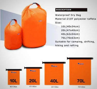 Waterproof Dry Bag Pack Sack - The Happy Tourist LTD