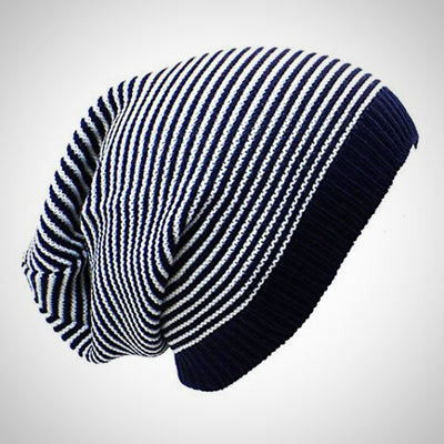 Striped Slouchy Beanie Hat - The Happy Tourist LTD