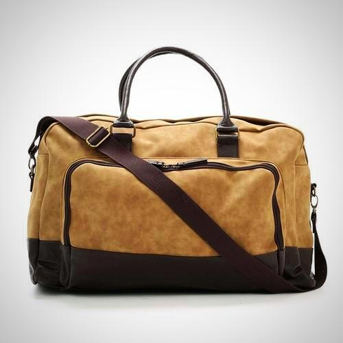 Vegan Leather Marcel Two Tone Duffel Bag - The Happy Tourist LTD