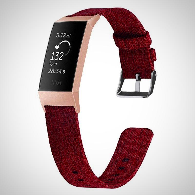 Nylon Woven Fabric Fitbit Charge 3 Straps