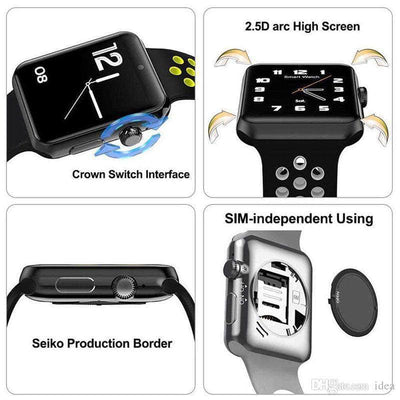 Touch Screen Waterproof Blood Pressure Monitor Activity, Fitness Tracker SmartWatch