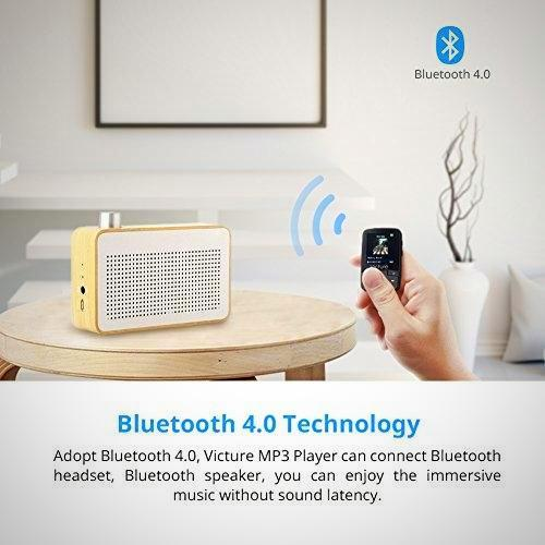 Victure Bluetooth MP3 8GB Clip Sport Portable Lossless Sound Hi-Fi Music Player