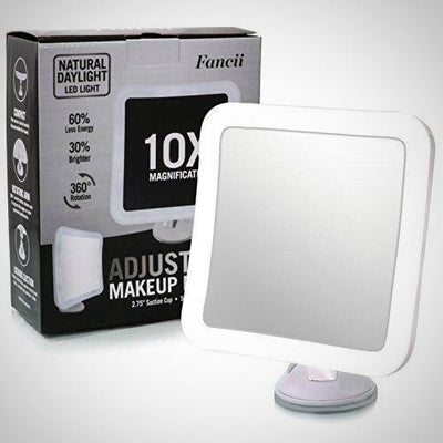 Fancii 10X Magnifying Makeup Daylight LED Travel Vanity Mirror 360 Rotation New - The Happy Tourist LTD