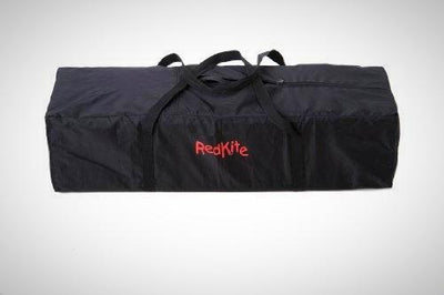 Red Kite Sleeptight Fully Padded Top Rails Travel Cot Includes Carry Bag Black