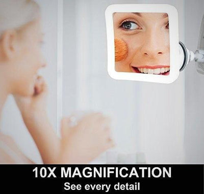 Fancii 10X Magnifying Makeup Daylight LED Travel Vanity Mirror 360 Rotation New