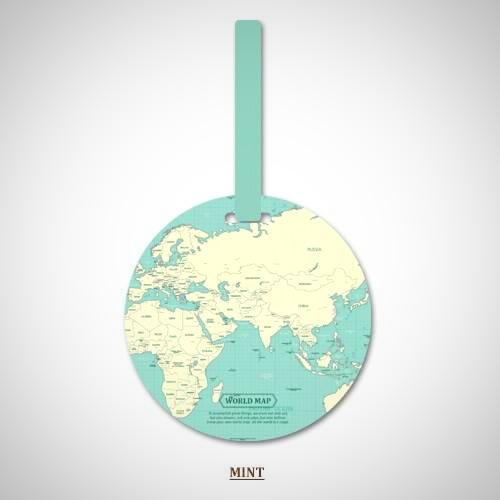 World Map Portable Baggage Tags For Frequent Travellers