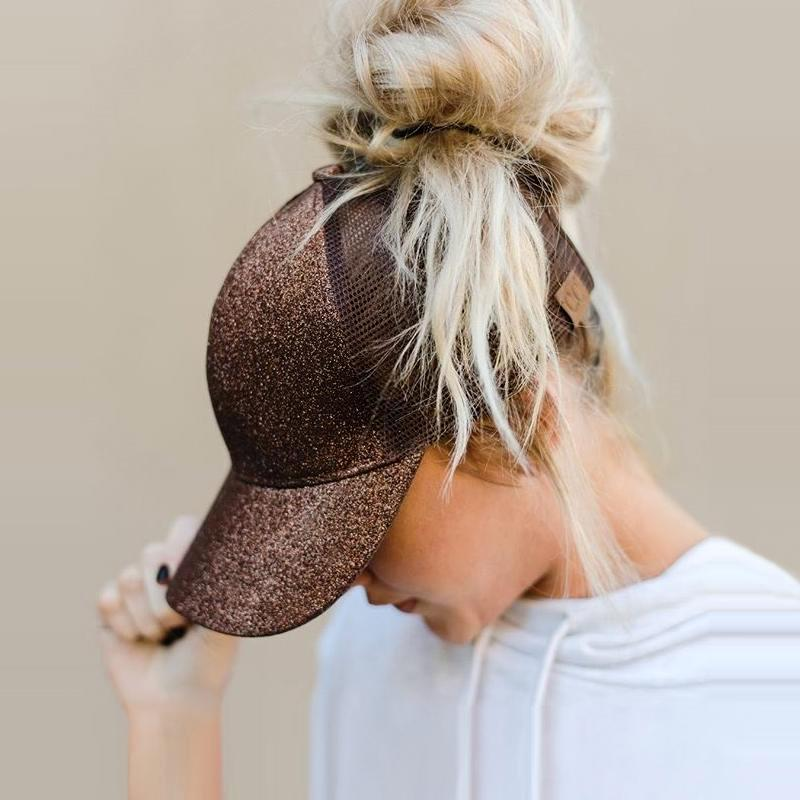 Summer Mesh Ponytail Baseball Caps For Women