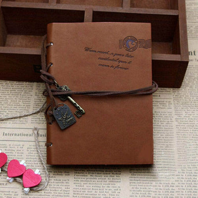 Vintage Retro Leather Note Book Journal Travel