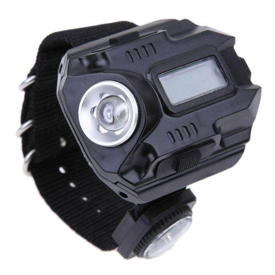 LED Flashlight Wrist Watch For Outdoor Camping - The Happy Tourists