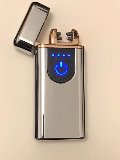 Portable Electric DUAL ARC Plasma USB Rechargeable Electronic Cigarette Lighter