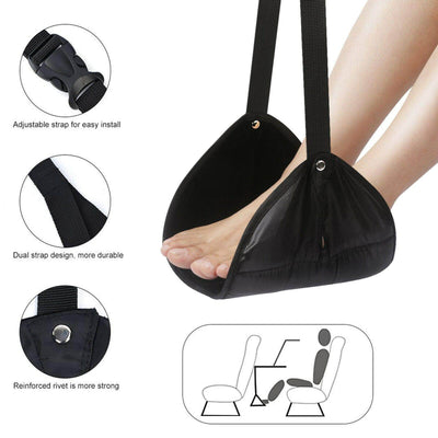 Portable Travel Footrest Table Hanging Feet Casual Pad Hammock