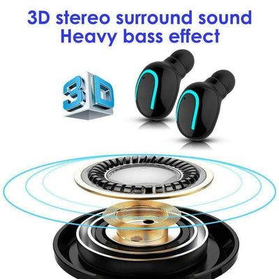Wireless Earphones Mini Earbuds Stereo Headphones