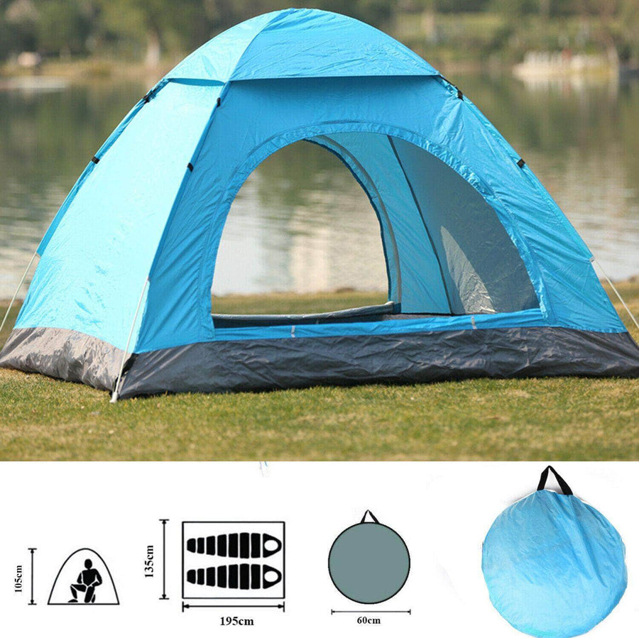 Two Person Outdoor Camping Tent with Carry Bag