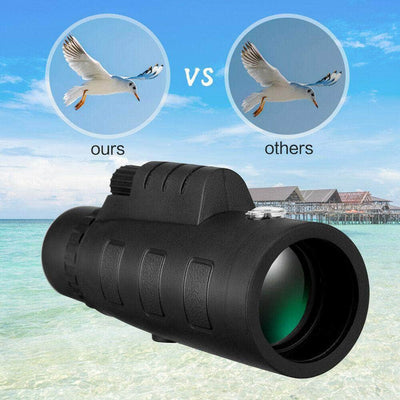 50X60 Monocular Telescope HD Zoom Optical Lens Camera with Phone Clip Tripod