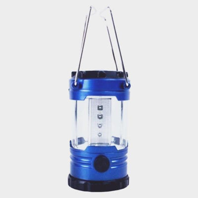 12-LED 500lm 1-Mode Cold White Camping Lamp Lantern w/ Compass - Blue - The Happy Tourist LTD