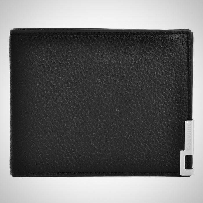 Stylish Folded PU Leather Short Wallet Purse for Men - Black - The Happy Tourist LTD