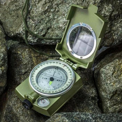 Metal Compass - Pocket-Size Survival Military Geology Outdoor Metal Compass for Hiking Travel Camping - The Happy Tourist LTD