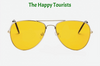 Pilot Aviation Night Vision Sunglasses Goggles Glasses - The Happy Tourist LTD