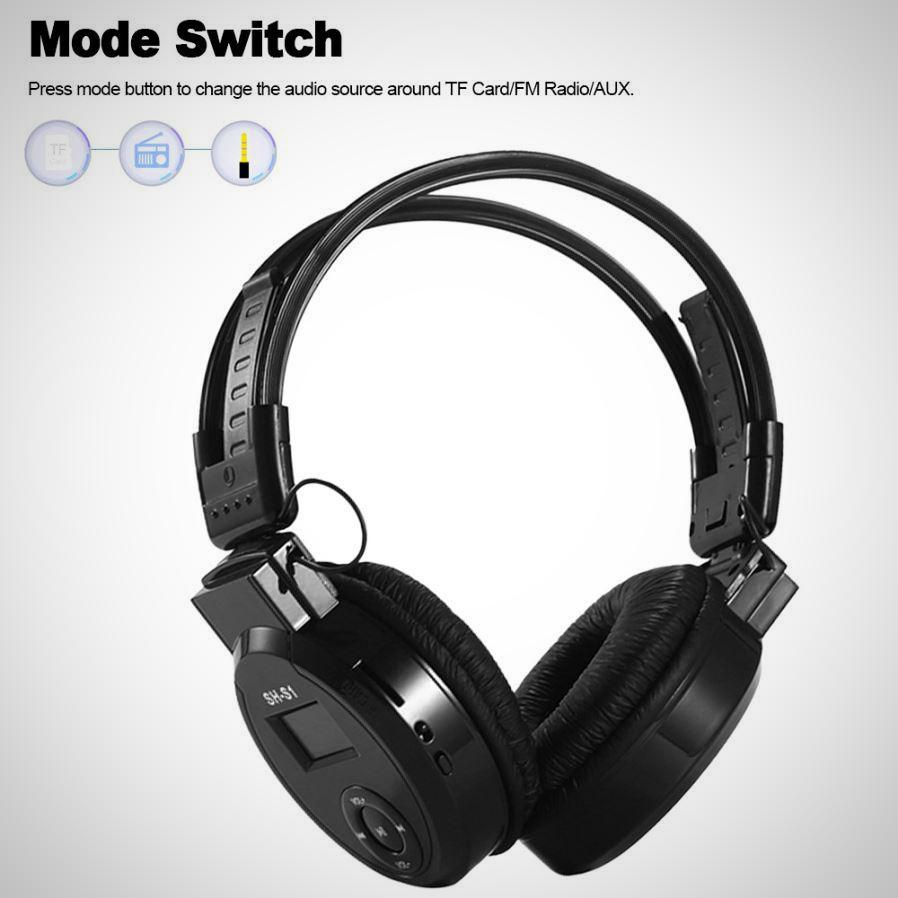 Sports Headphone Headset with Screen Design, Supports TF Card / FM