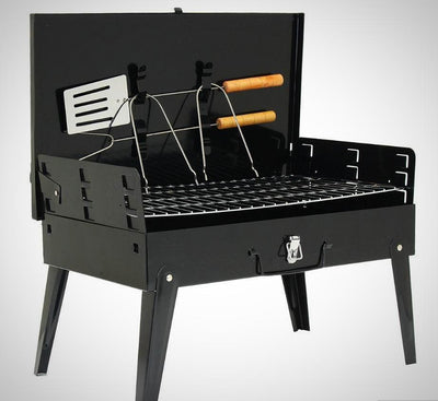Portable Charcoal Barbecue BBQ Griller -Foldable - The Happy Tourist LTD