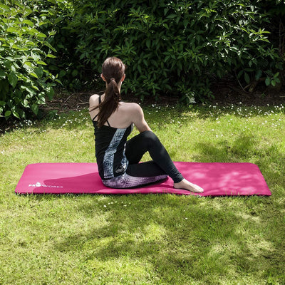 Large Padded Yoga Mat with Carry Handle for Pilates - The Happy Tourist LTD
