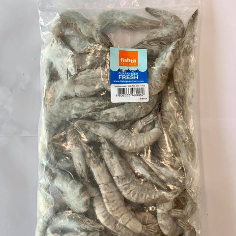 Vannamei / White Shrimp Head On (1 Kilo)