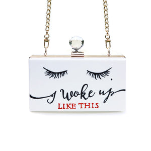 WOKE UP Clutch | White