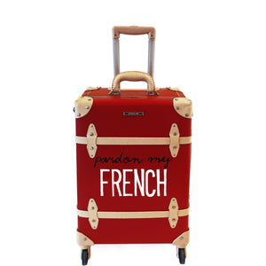 FRENCH | Suitcase | 20 inch | Red