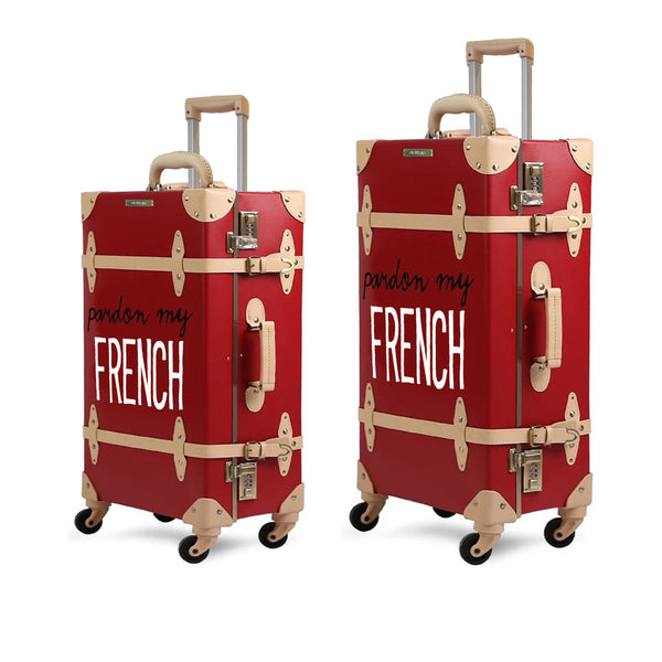 FRENCH | Suitcase | 22 inch | Red