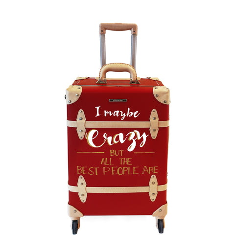 CRAZY | Suitcase | 20 inch | Red