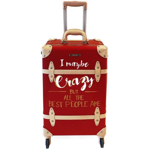CRAZY | Suitcase | 22 inch | Red