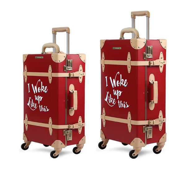 WOKE UP | Suitcase | 22 inch | Red