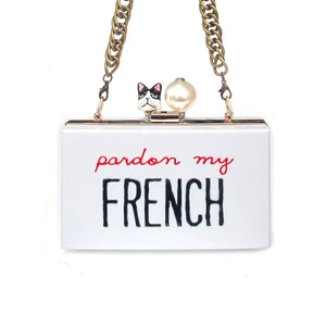 PARDON MY FRENCH Clutch