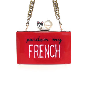 PARDON MY FRENCH Clutch | Red