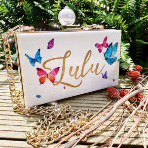 Customised Your Name on Clutch Bag | with Pearl Charm