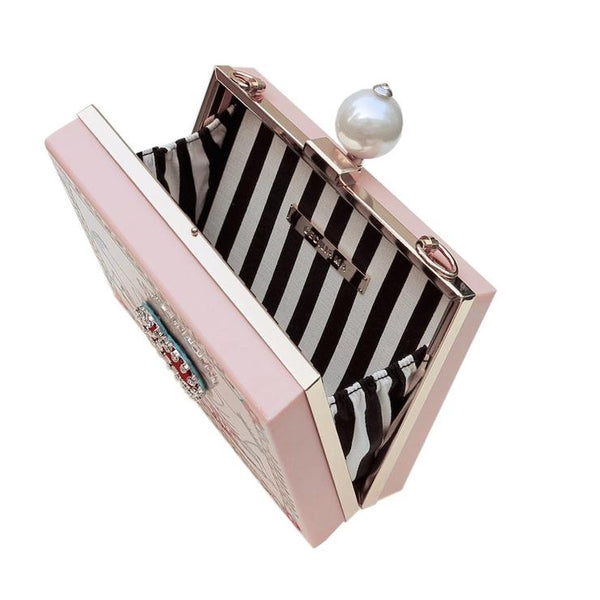 Your Statement  on Clutch Bag with wooden crafts | with Pearl