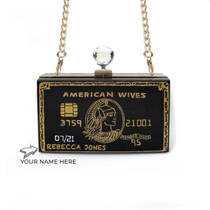 Customise Your Name on Credit Card Clutch