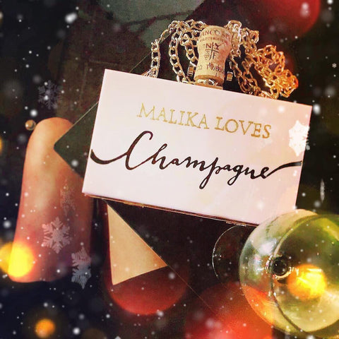Your Name  on Clutch Bag |  with Champagne Cork