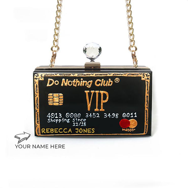 Personalised VIP Clutch | Black