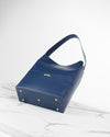 Navy blue ecofriendly vegan bucket bag