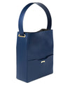 Dark blue ecofriendly crueltyfree bucket bag