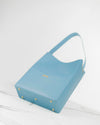 Pastel blue ecofriendly italian vegan leather bucket bag