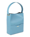 Light blue sustainable vegan leather bucket bag