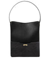 Python Black Bucket bag in ecofriendly vegan leather