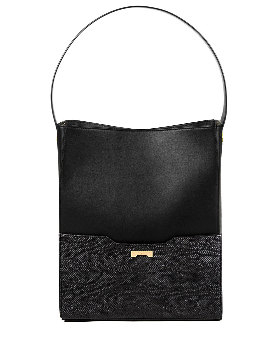 Bucket Bag Python Black