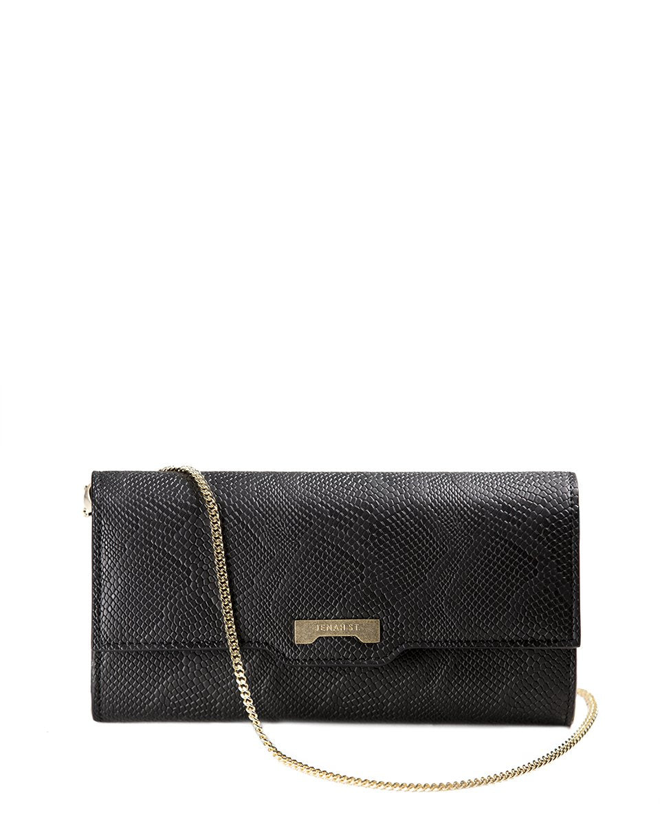 Mini Bag Python Black