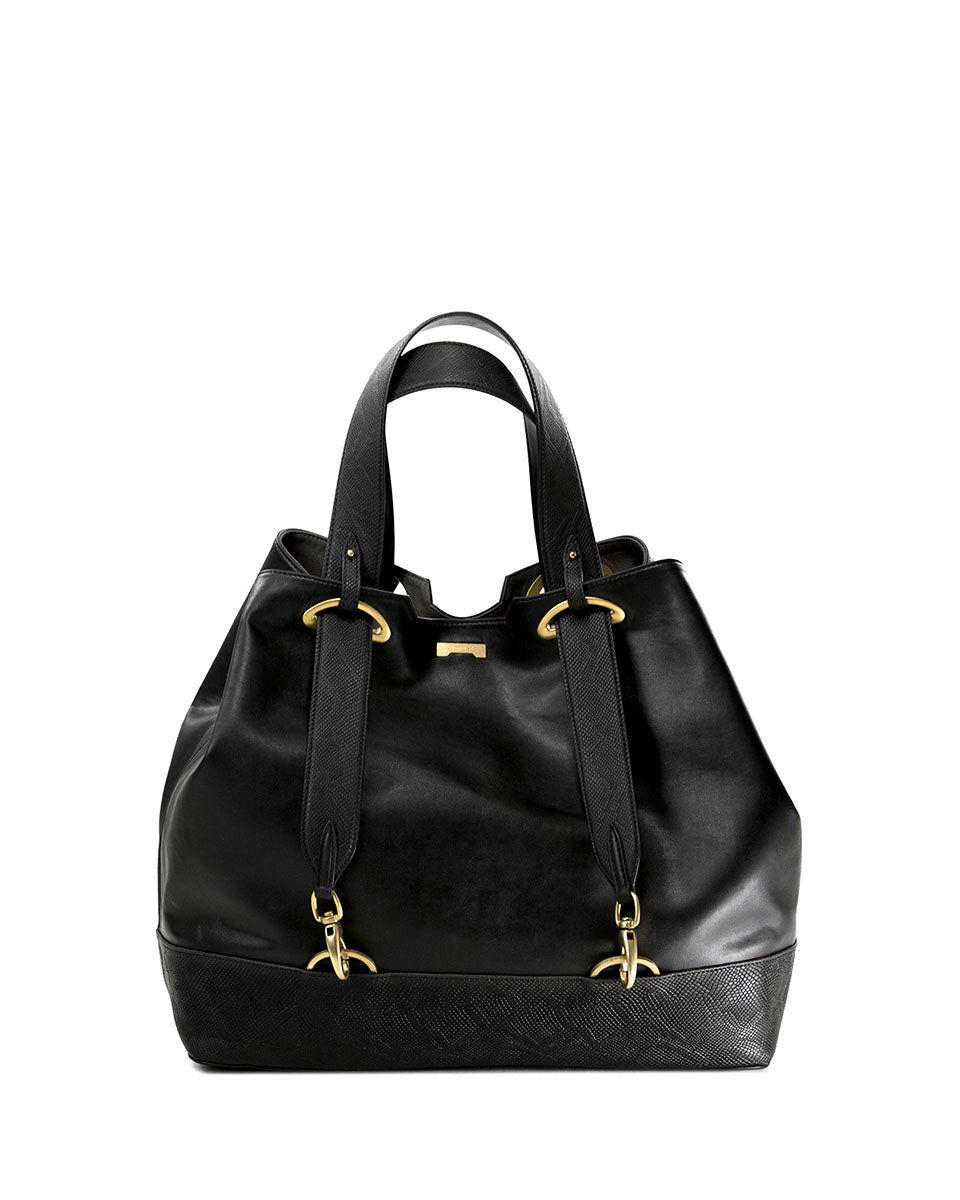Backpack Shopper Python Black