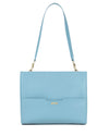 The perfect workbag for women in pastel blue ecofriendly vegan leather