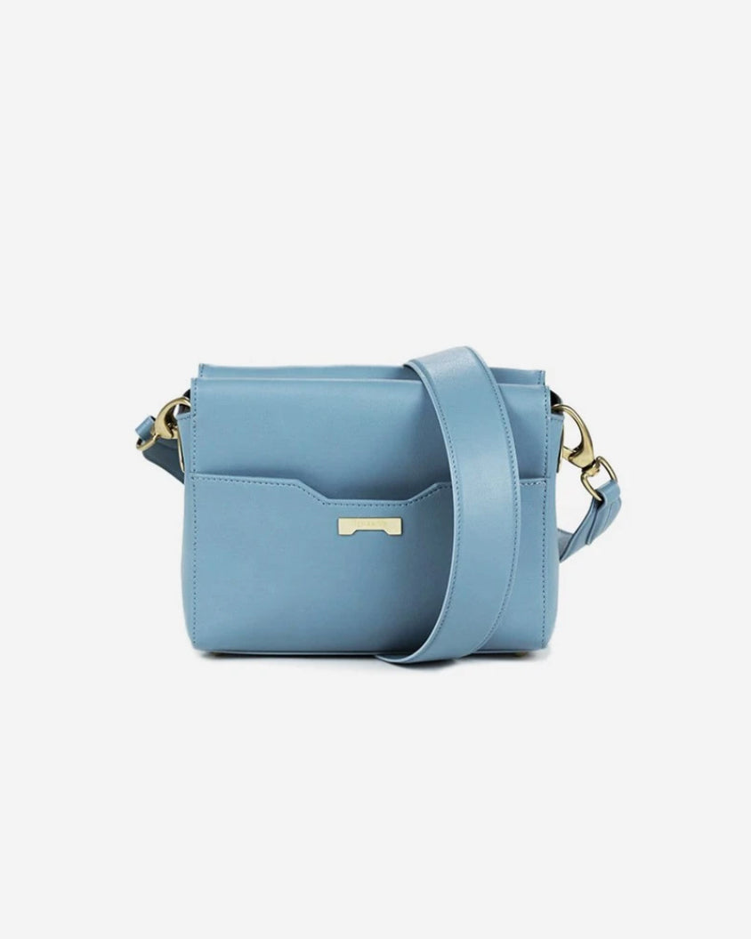 Perfect pouch in pastel blue ecofriendly vegan leather