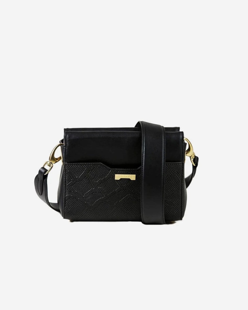 Perfect python black ecofriendly vegan leather pouch for women